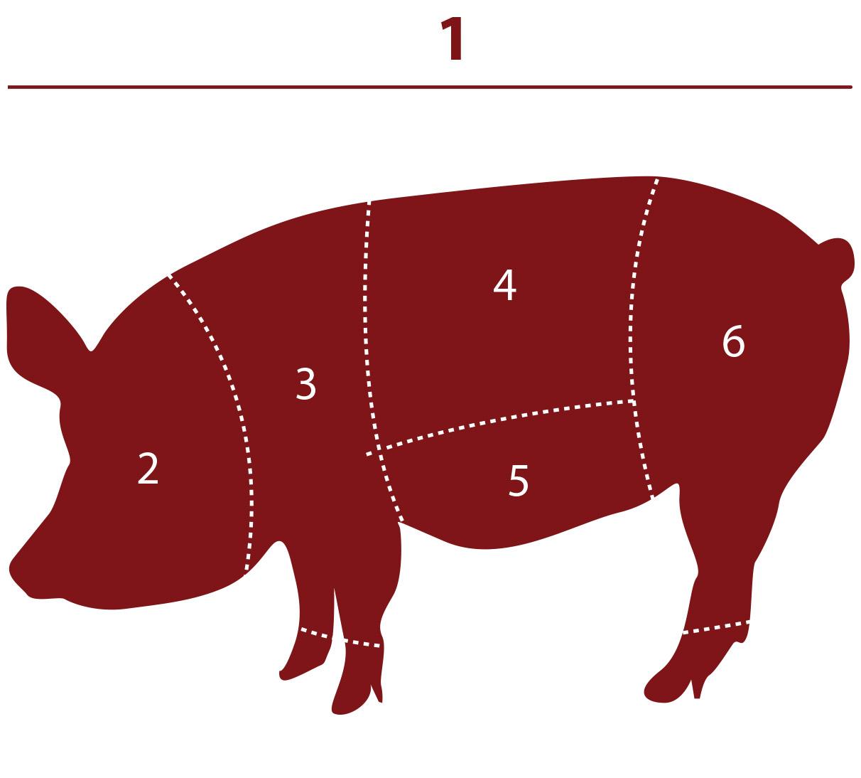 Схема разделки туши свиньи фото